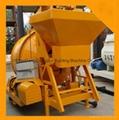 High Quality JZC500 mobile concrete mixer with skip hopper