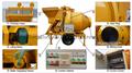 JZC500 Portable Self Loading Durable 1 Yard Concrete Mixer
