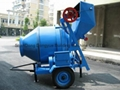 JZC350 portable concrete mixer and charging 350L volumetric cement mixer