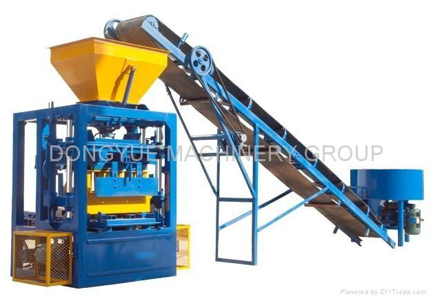 QT4-24 semi block machine,block moulding line,brick making machine  1