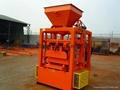 QT4-24 semi block machine,block moulding line,brick making machine  2