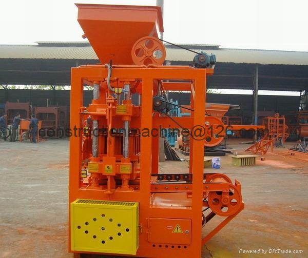 QT4-24 semi block machine,block moulding line,brick making machine  3