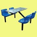 學生食堂不鏽鋼餐桌椅定製廠家 3