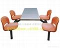 學生食堂不鏽鋼餐桌椅定製廠家 4