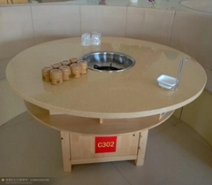 定製大理石火鍋桌椅