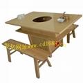 定製大理石火鍋桌椅 2