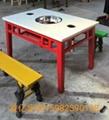 定製大理石火鍋桌椅 4