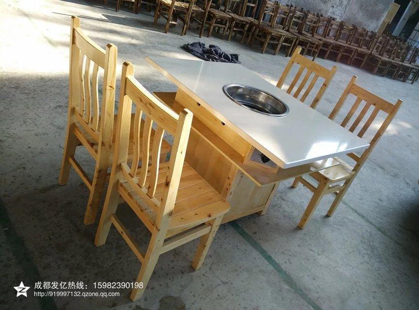 定製大理石火鍋桌椅 5