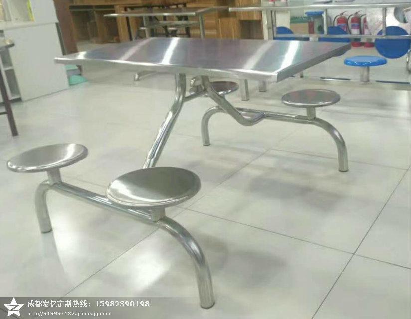 學生食堂不鏽鋼餐桌椅定製廠家 1
