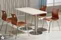 學生食堂不鏽鋼餐桌椅定製廠家 2