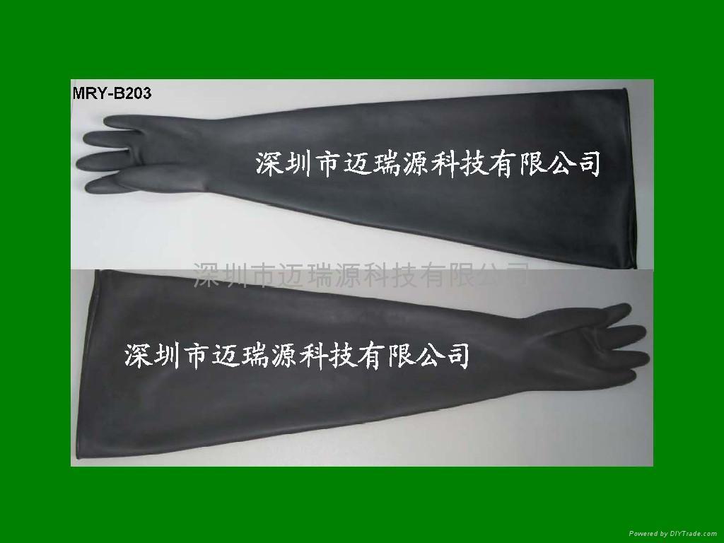 long butyl rubber glove box gloves 1