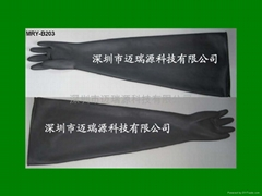 long butyl rubber glove box gloves