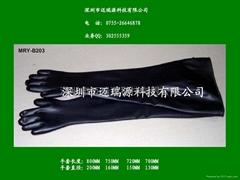 丁基橡胶耐酸碱手套