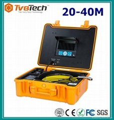 TVBTECH Waterproof Inspection Camera with Meter Counter for Drain Inspection