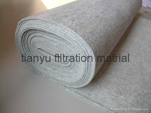 Dust collector Needle Felt  PPS Aramid PTFE Glassfiber filter media 2