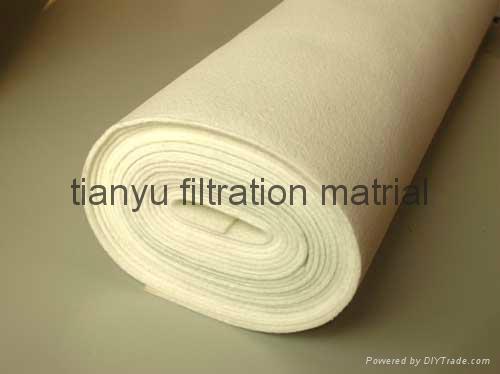 Dust collector Needle Felt  PPS Aramid PTFE Glassfiber filter media 3
