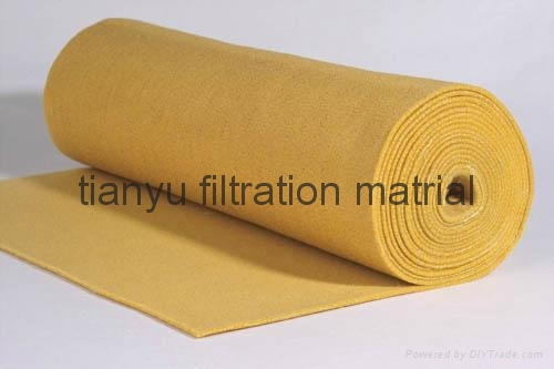 Dust collector Needle Felt  PPS Aramid PTFE Glassfiber filter media 4