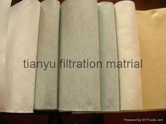 Dust collector Needle Felt  PPS Aramid PTFE Glassfiber filter media 5