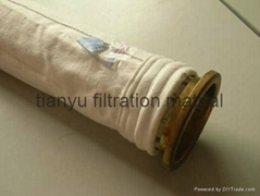 Bag House Dust Collector PTFE Non Woven Bag Filters, Industry Air Filter Media B