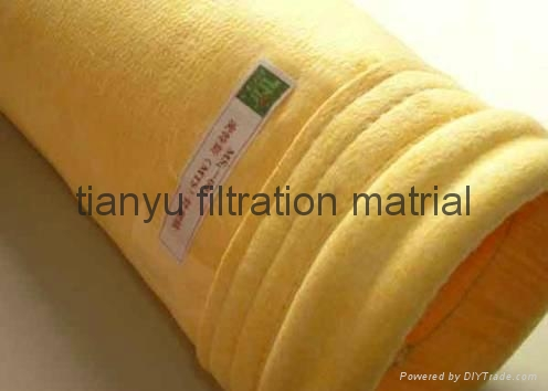 Dust collector filter bags PPS/Aramid/PTFE/ Glassfiber filter material 3