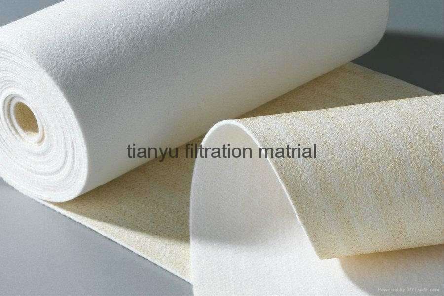 Meta-Aramid Non Woven Fabric Filter Fire Retardant Needle Felt 1