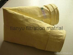 fiberglass compound dust collector filter bag for cement plant