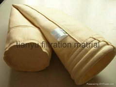 High Quality Idustrial PPS Fabric Filter Bags With PTFE Coating