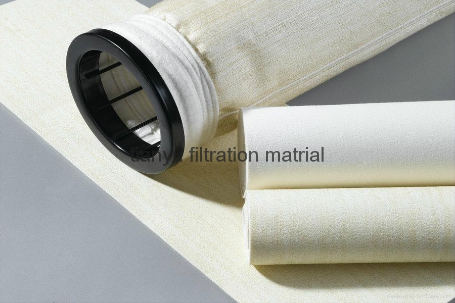High Quality Idustrial PPS Fabric Filter Bags With PTFE Coating 2