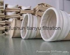Nomex dust filtration fiber Nomex dust filter bag Non Woven dust filter bag