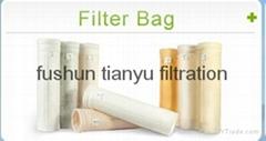Ryton(PPS) nonwoven needle felt dust collector filter bag