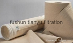 Industrial high temperature resistant fabric NOMEX dust collecting bag filter