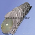 Woven fiberglass Fabric coated with e-PTFE membrane filter bag 1