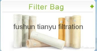 Dust collector filter bag polyester/ PPS/aramid/PTFE/ Glassfiber filter media 3