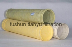 Dust collector filter bag polyester/ PPS/aramid/PTFE/ Glassfiber filter media (Hot Product - 5*)