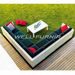 Patio furniture wicker/rattan sofa set