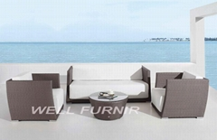 4pcs outdoor wicker/rattan sofa