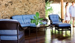 round PE rattan furniture