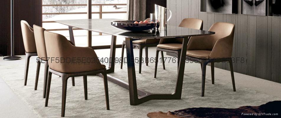 牛角實木餐椅 1