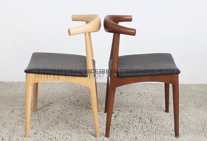 牛角實木餐椅 3