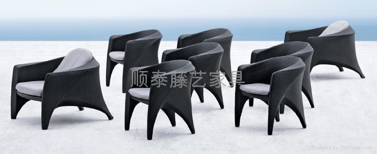 順泰藤藝戶外時尚咖啡椅  1