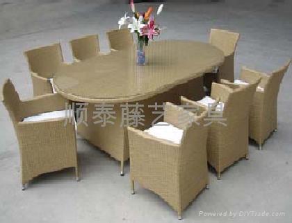 餐桌 順泰藤藝戶外傢具 1