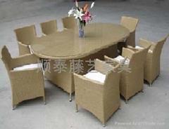 餐桌 顺泰藤艺户外家具