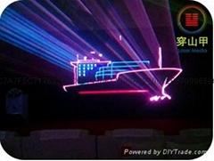 北京穿山甲激光秀表演、激光租赁
