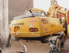二手現代R130W-V挖掘機