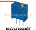 陶瓷玻璃釉精密电位器/可调电阻3266W-103  3