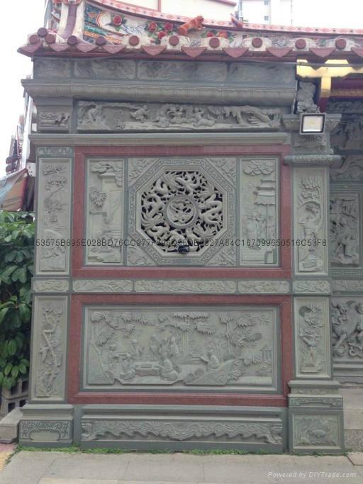 漳州寺廟門面浮雕 1