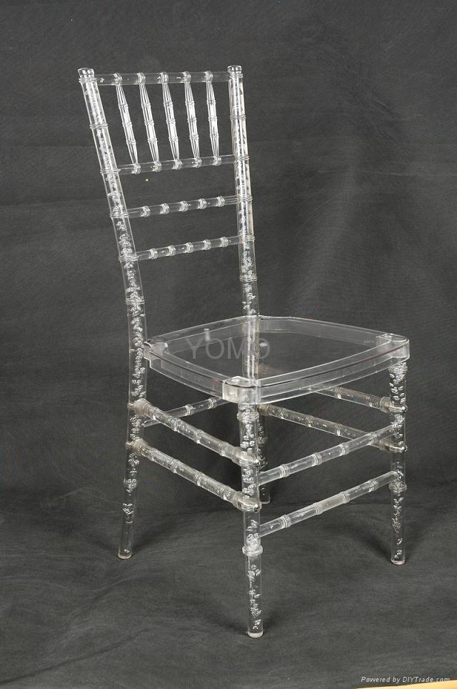 Clear Resin Plastic Chiavari Chair Yomo 006 Yomo