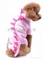 寵物衣服粉色恐龍裝