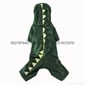 供應寵物衣服綠色恐龍變身裝