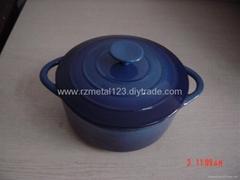 cast iron enamel casserole
